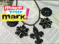 In this episode of Make Your Mark! you'll learn how to take the cheap jewelry you got for your birthday and up-style it into something sexy and amazing!  All you need is a little Krylon spray paint and some jump rings and you're half way there.
