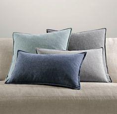 Italian Cotton Basket Weave Pillow Covers   Pillows   Restoration Hardware - cypress