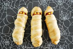 Mummy dogs! I'm so excited about these - they're definitely getting made at the next Hallowe'en baking day :)