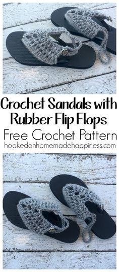 cbf0f019df2 Crochet Sandals with Rubber Flip Flops