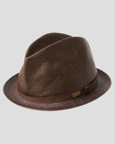 e69abdfc0df Bailey of Hollywood Loche Center Dent Crushed Straw Hat Mens Straw Hats
