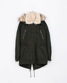 ZARA - TRF - COAT WITH DETACHABLE HOOD Birthday Wishlist, Coats For Women, Canada Goose Jackets, Mantel, Hooded Jacket, Winter Jackets, Cute Outfits, Expensive Taste, Wraps