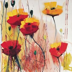 Poppies in Yellow Art Print by Daniel Campbell Framing Canvas Art, African Art Paintings, Grey Art, Yellow Art, Egg Art, Silk Painting, Painting Inspiration, Framed Art Prints, Poppies