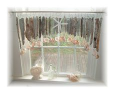 Beachy Keen Natural Driftwood Window by LittleLaLaOriginals