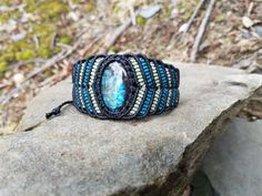 Magical Blue Labradorite Handmade Bracelet by RhiCrystallized