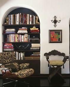 Bookcase in arch