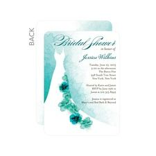 Softly Gowned Bridal Shower Invitations