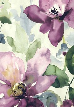 Art Visit my other boards at: Patricia Hartmann Art Floral, Watercolor Flowers, Watercolor Paintings, Floral Prints, Watercolour, Flowers Wallpaper, Iphone Background Wallpaper, Flower Backgrounds, Purple Wallpaper