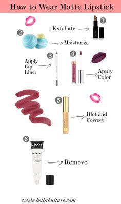 How to Wear Matte Lipsticks