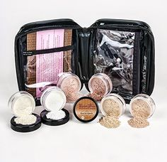 Mineral Makeup XXL KIT w/ COSMETIC CASE Full Size Set Sheer Bare Skin Powder Cover (Light Tan) ** Details can be found at http://www.amazon.com/gp/product/B015LB2FOG/?tag=makeuptips3-20&pxy=180816053536
