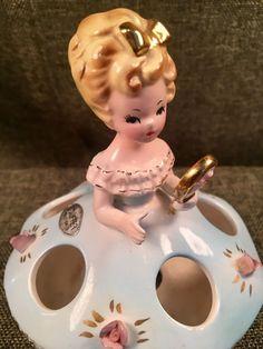 Vintage Belle Figurine Lipstick Holder
