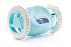 Clocky der fliehende Alarm Wecker, Blau Aqua