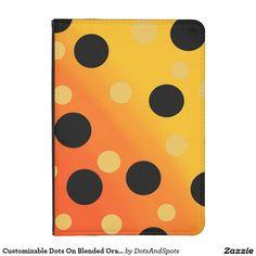 Customizable Dots On Blended OrangeToYellow Kindle Case
