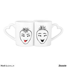 Mask Couples' Coffee Mug Set