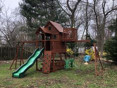 Playset Refurbish (safety check, tune-up, sand, stain/seal) Wood Playground, Relocation Services, All Brands, Seal, Safety, Yard, Check, Security Guard, Patio