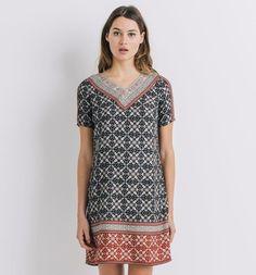 Robe+tunique+imprimée+Femme