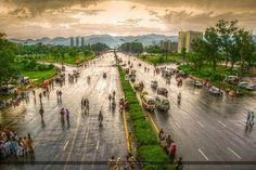 Streets of Islamabad, Pakistan. Islamabad is the capital city of Pakistan.
