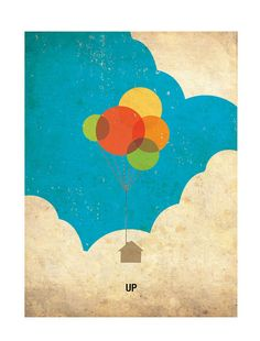 UP Retro Minimalist Poster Print 11 1/2 x 15 1/4 by PosterEmpire