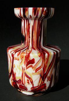 Vintage Art Deco Glass Vase Peloton Decor Kralik Harrach Czech | eBay