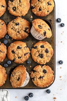 Bakery Style Blueberry Muffins Recipe, Gluten Free Blueberry Muffins, Blue Berry Muffins, Healthy Muffin Recipes, Healthy Muffins, Best Bakery, Healthy Peanut Butter, Love Eat, Brunch Recipes
