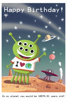 Поздравления на день рождение от инопланетян
