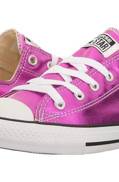 Converse Kids Chuck Taylor All Star Ox Metallic (Little Kid) (Magenta Glow/Black/White) Girl's Shoes - Converse Kids, Chuck Taylor All Star Ox Metallic (Little Kid), 355561F-522, Footwear Closed General, Closed Footwear, Closed Footwear, Footwear, Shoes, Gift - Outfit Ideas And Street Style 2017