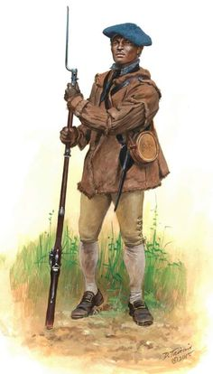 Negro soldier of the 4th New York Regiment,1777, during the Saratoga Campaign, by Don Troiani. (www.dontroiani.com)