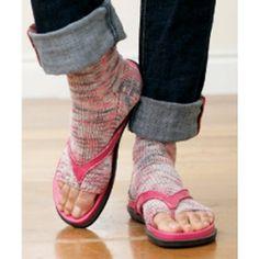 "Free Pedicure Socks Knit Pattern. You say ""pedicure,"" I say everyday flip-flop wear...."