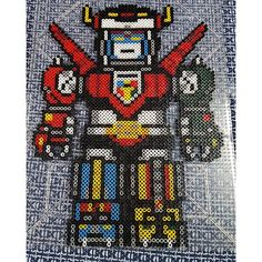 Voltron perler beads by dcs8bit