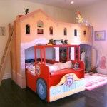 Love this Fire Station Design around the Fire Engine bed.