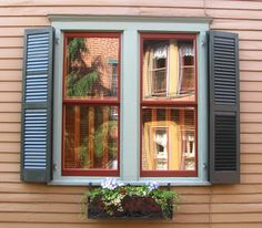 Almost 99 percent of window shutters on homes are wrong resulting in very bad curb appeal. See if your shutters are bad and learn what to do right to make your home look its best. Outside Shutters, Window Shutters Exterior, Louvered Shutters, Interior Shutters, California Shutters, Double Window, Window Casing, Shutter Doors, Farmhouse Windows