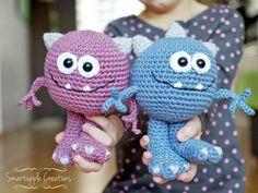 Amigurumi Monsters Inc : Spot the monster amigurumi crochet pattern pdf diy animal alien