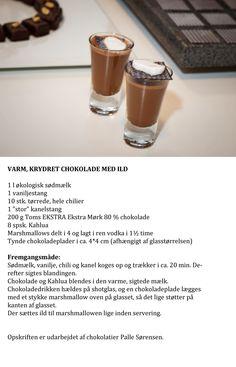Den klassiske, varme chokolade med et festligt tvist