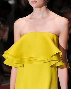Make a bold statement with a canary yellow dress. This one by @gucci is classy in every way.