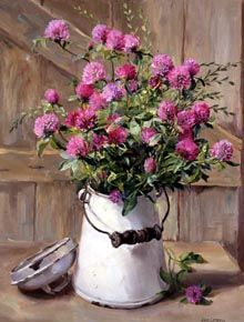 ''Pink Clover in a Milk Jug'' by Anne Cotterill