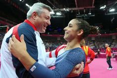 the cutest athlete/coach duo! Aly and Mihai!