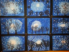 Winter Crafts For Kids, Art For Kids, Middle School Art Projects, Wonder Art, Winter Art Projects, 3rd Grade Art, Classroom Crafts, School Decorations, Art Plastique