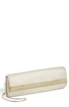 Whiting & Davis Crystal Trim Clutch | Nordstrom