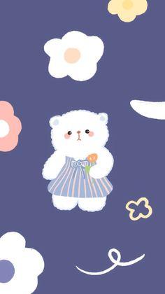 Soft Wallpaper, Bear Wallpaper, Purple Wallpaper, Kawaii Wallpaper, Disney Wallpaper, Wallpaper Backgrounds, Kawaii Stickers, Cute Stickers, Cute Walpaper