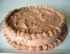 frosted cake 300x233 Creamy Delicious Cake Frosting Recipe