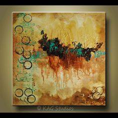 Abstract painting by Kag 24 x24 inches heavy texture by kagstudios, $199.00