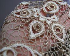 Купить свадебное или вечернее платье - бежевый, свадебное платье, вечернее платье, ирландское кружево
