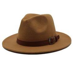 61e259dd Seioum Special Felt Hat Men Fedora Hats with Belt Women Vintage Trilby Caps  Wool Fedora Warm Jazz Hat Chapeau Femme feutre