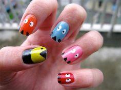 Funky Nail Art, Crazy Nail Art, Crazy Nails, Funky Nails, Cute Nail Art, Nail Art Designs, Cute Easy Nail Designs, Nail Polish Designs, Fingernail Designs