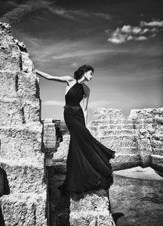 Very elegant long black gown
