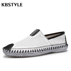 b5ba4bb010b6a7 KBSTYLE Men Shoes Genuine Leather Summer Casual shoes Breathable Soft  Driving Men Handmade chaussure homme Net Surface Loafers-in Men s Casual  Shoes from ...