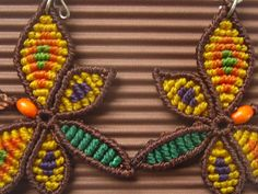 Schmetterling handgemachte Macrame Ohrringe von PapachoCreations