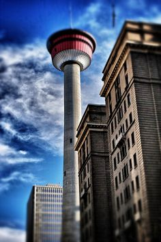 Calgary Tower- ate in th rotating restaurant