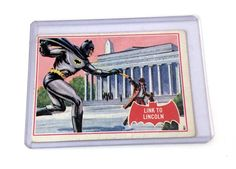 Topps 1966 Batman Red Bat – Link To Lincoln 17A - Collector Cards