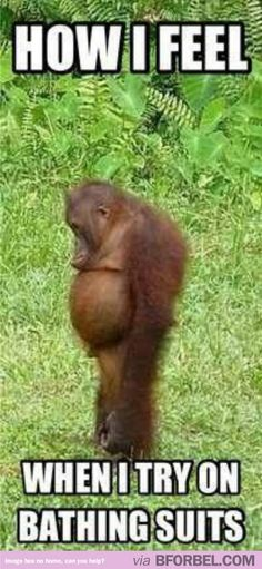 How I feel when trying on bathing suits